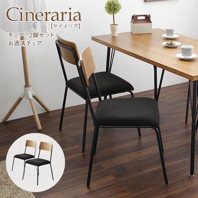 スタンザインテリア サイネリア/cineraria ダイニングチェア 2脚セット(椅子のみ) 00062203921002