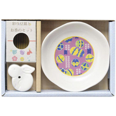 その他 【126個セット】彩り豆皿とお香のセット MRTS-29698