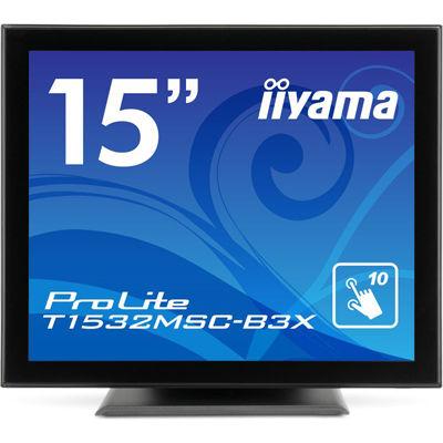 イーヤマ <ProLite>15インチ タッチパネル スクエア 液晶ディスプレイ(1024x768/D-Sub15Pin/DVI/スピーカー/アンチグレア/TNパネル/投影型静電容量方式/マーベルブラック) T1532MSC-B3X【納期目安:追って連絡】