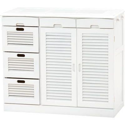 HAGIHARA(ハギハラ) キッチンカウンター(ホワイト) MUD-6818WH 2101626600