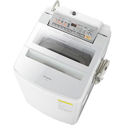 パナソニック 洗濯・脱水容量8kg:乾燥容量4.5kgタテ型インバーター洗濯乾燥機 (ホワイト) (NAFW80S3W) NA-FW80S3-W