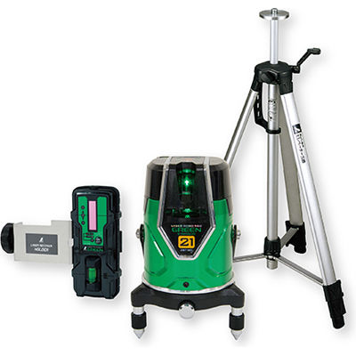 シンワ測定 レーザーロボグリーン Neo E Sensor 21受光器・三脚セット71612 71612
