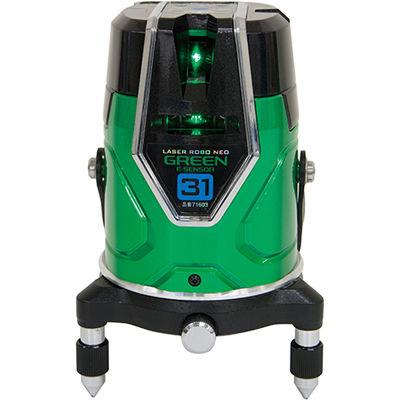 シンワ測定 レーザーロボグリーン Neo E Sensor 31縦・横・大矩・地墨71603 71603