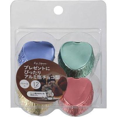 貝印 チョコレート 型 アルミチョコ型 ハート 小 12枚入 kai House SELECT DL-6183【120個セット】 4901601299182【納期目安:1週間】