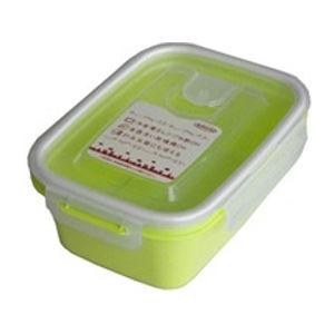 岩崎工業 保存容器 スマートフラップ&ロックス 660ml(M) 1P グリーン【90個セット】 4901126316166【納期目安:1週間】