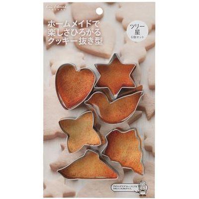 貝印 クッキー型 クッキー抜き型 6個セット ツリー 星 kai House SELECT D-L6190【120個セット】 4901601299250【納期目安:1週間】