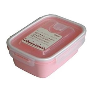 岩崎工業 保存容器 スマートフラップ&ロックス 900ml(L) 1P ピンク【60個セット】 4901126316241