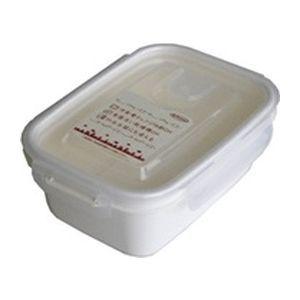 岩崎工業 保存容器 スマートフラップ&ロックス 660ml(M) 1P ホワイト【90個セット】 4901126316173