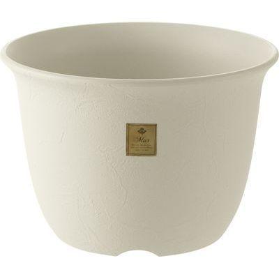 リッチェル ムール ポット 6号 ホワイト (プラスチック製 植木鉢)【60個セット】 4973655794647【納期目安:1週間】