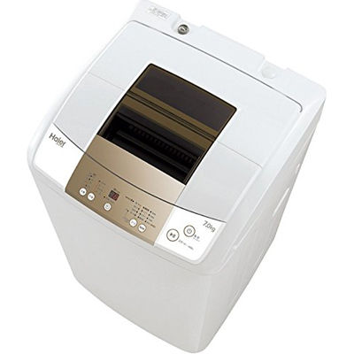 ハイアール 新型3Dウィングパルセーターと「つけおきモード」でしっかり洗浄! 7.0kg自動洗濯機 JW-K70M-W【納期目安:3週間】