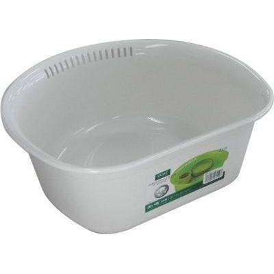 アスベル 洗い桶 (D型) ポゼ ホワイト【40個セット】 4974908431197【納期目安:1週間】