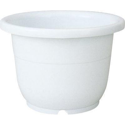リッチェル 植木鉢 輪鉢 8号 ホワイト【60個セット】 4973895716812【納期目安:1週間】