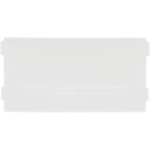 吉川国工業所 ブリックス仕切板 ミニS用 2枚組 W(ホワイト) 9105【288個セット】 4979625214238