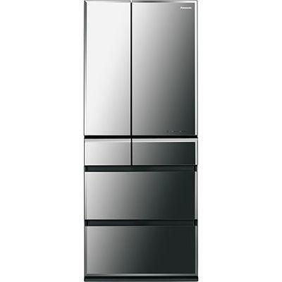 パナソニック 601Lフレンチ6ドア「微凍結パーシャル」搭載冷蔵庫(オブシディアンミラー) (NRF602WPVX) NR-F602WPV-X