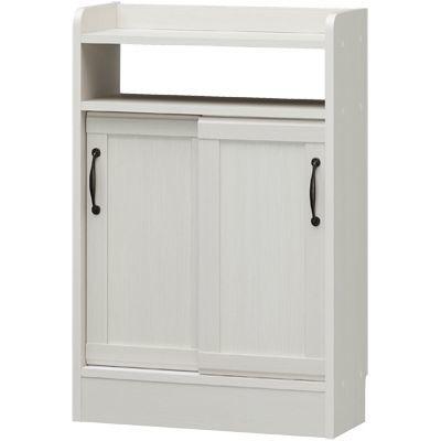 白井産業 セミクラシックなやさしい表情の食器棚 薄型キャビネット CIELONE チェローネ CEN-8555SD