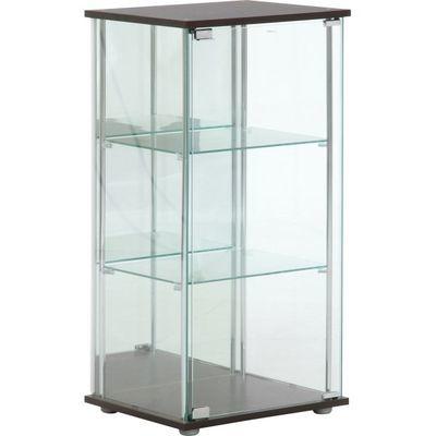 不二貿易 ガラスコレクションケース3段(背面ミラー付き) 96048