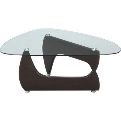不二貿易 ガラスセンターテーブル ルーク ウォルナット 96142