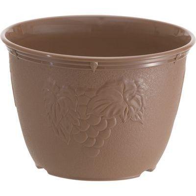 山田化学 植木鉢 ビオラデコ 7号 チョコブラウン (プラスチック製 プランター)【90個セット】 4965534596725
