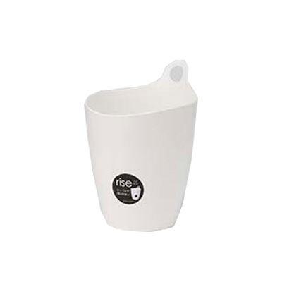 イノマタ化学 収納 かご プラスチック 5L ライズ ホワイト (ゴミ箱 くずかご)【36個セット】 4905596341567【納期目安:1週間】