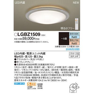 パナソニック シーリングライト LGBZ1509