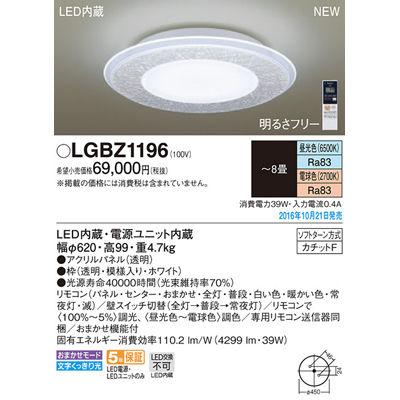 パナソニック シーリングライト LGBZ1196