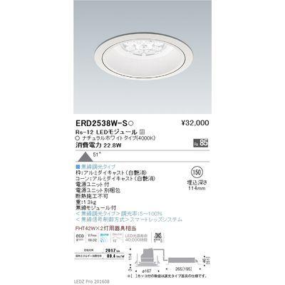 遠藤照明 LEDZ Rs series リプレイスダウンライト ERD2538W-S