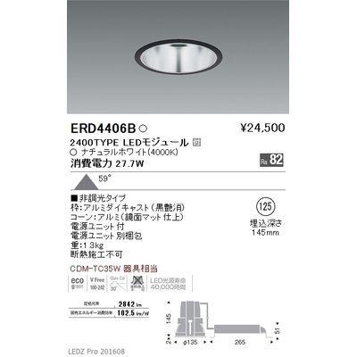 遠藤照明 LEDZ ARCHI series ベースダウンライト:鏡面マットコーン ERD4406B