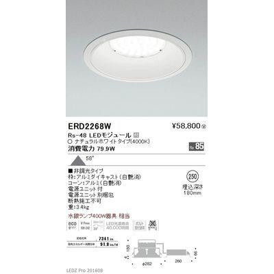 遠藤照明 LEDZ Rs series ベースダウンライト:白コーン ERD2268W