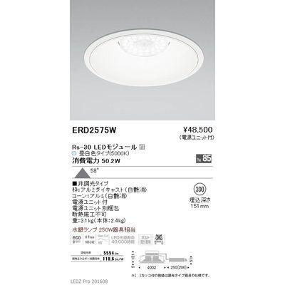 遠藤照明 LEDZ Rs series リプレイスダウンライト ERD2575W