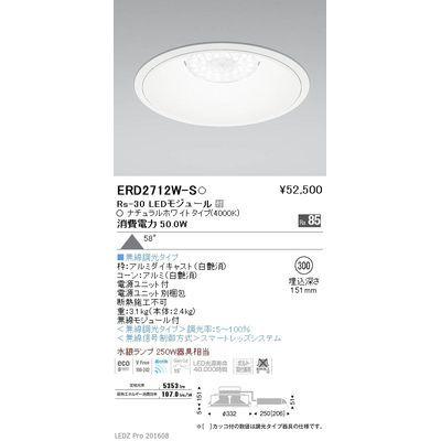 遠藤照明 LEDZ Rs series リプレイスダウンライト ERD2712W-S