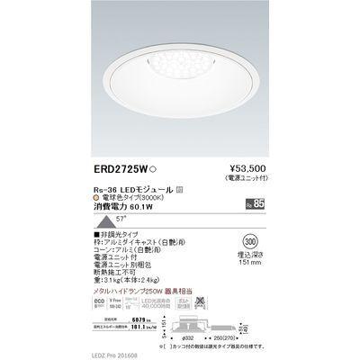 遠藤照明 LEDZ Rs series リプレイスダウンライト ERD2725W