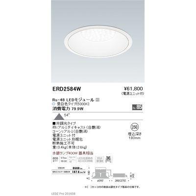遠藤照明 LEDZ Rs series リプレイスダウンライト ERD2584W