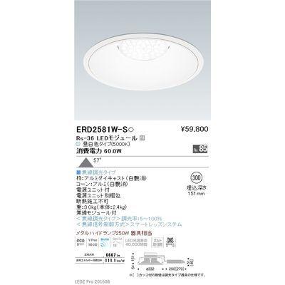 遠藤照明 LEDZ Rs series リプレイスダウンライト ERD2581W-S