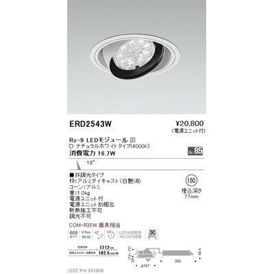 遠藤照明 LEDZ Rs series リプレイス ユニバーサルダウンライト ERD2543W
