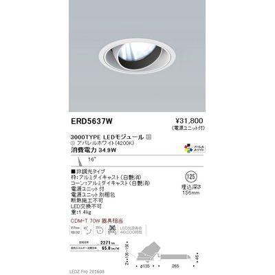 遠藤照明 LEDZ ARCHI series ユニバーサルダウンライト ERD5637W