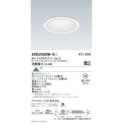 遠藤照明 LEDZ Rs series リプレイスダウンライト ERD2500W-S