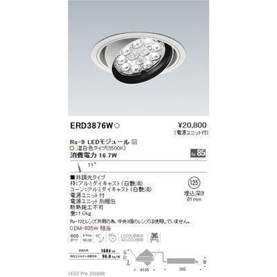 遠藤照明 LEDZ Rs series ユニバーサルダウンライト ERD3876W