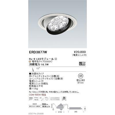 遠藤照明 LEDZ Rs series ユニバーサルダウンライト ERD3877W