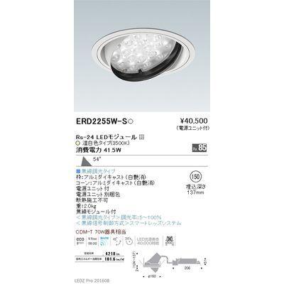遠藤照明 LEDZ Rs series ユニバーサルダウンライト ERD2255W-S