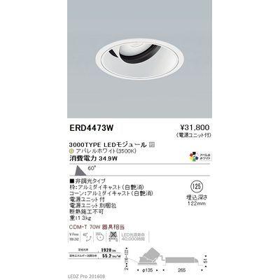 遠藤照明 LEDZ ARCHI series ユニバーサルダウンライト ERD4473W