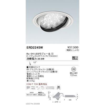 遠藤照明 LEDZ Rs series ユニバーサルダウンライト ERD2245W