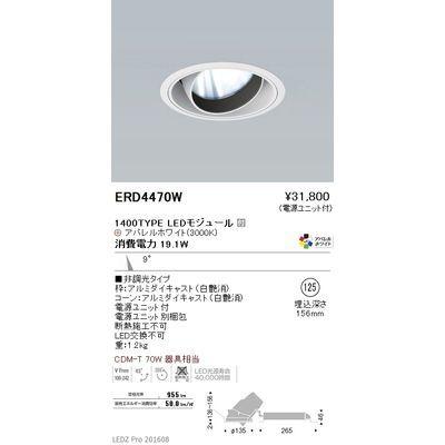 遠藤照明 LEDZ ARCHI series ユニバーサルダウンライト ERD4470W