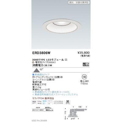遠藤照明 LEDZ ARCHI series リプレイスダウンライト ERD3806W