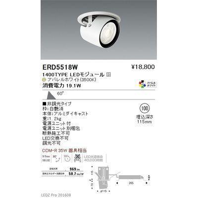 遠藤照明 LEDZ ARCHI series ダウンスポットライト ERD5518W