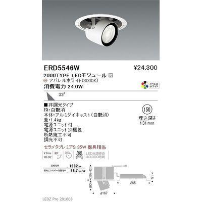 遠藤照明 LEDZ ARCHI series リプレイスユニバーサルダウンライト(アジャスタブルタイプ) ERD5546W