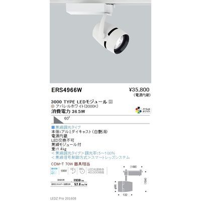 遠藤照明 LEDZ ARCHI series スポットライト ERS4966W