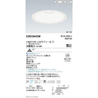 遠藤照明 LEDZ ARCHI series 軒下用ベースダウンライト ERD3845W