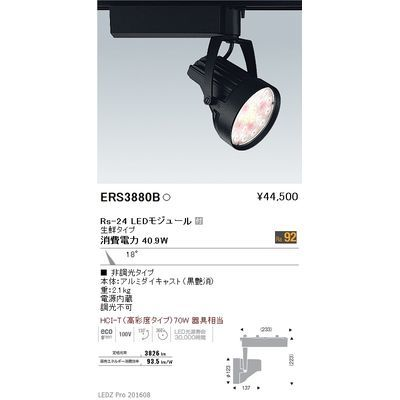 遠藤照明 LEDZ Rs series 生鮮食品用照明(スポットライト) ERS3880B