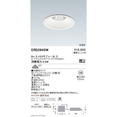 遠藤照明 LEDZ Rs series 防湿形ベースダウンライト ERD2645W