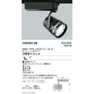遠藤照明 LEDZ ARCHI series 生鮮食品用照明(スポットライト) ERS5013B